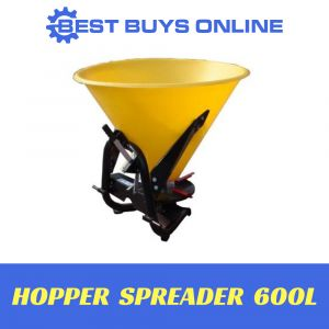 FERTILIZER SPREADER 600 Litre PVC Hopper Push Tow Broadcast Seed Spreader