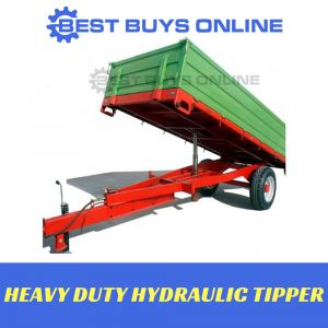 HYDRAULIC TIPPING TRAILER Tipper Box Heavy Duty 2500kg Cart Trade or Farm
