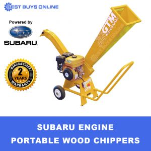 CROMMELINS PORTABLE WOOD CHIPPER 7HP SUBARU ENGINE GARDEN MULCHER SHREDDER GTS700S