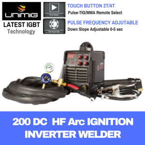UniMig 200 High Frequency DC TIG Arc MMA Inverter Welder Viper KUMJRVT200P