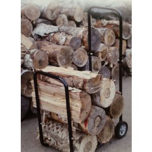 100KG FIREWOOD LOG CART TROLLEY WITH RAIN COVER for Log Splitter-Wood Log Saw
