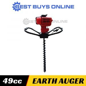 NEW POST HOLE DIGGER 49 cc one man earth auger inc. 100, 150, 200mm Auger