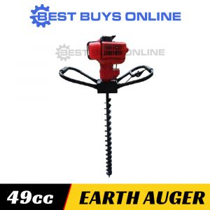 POST HOLE DIGGER 49 cc one man earth auger inc. 100, 150, 200mm Auger