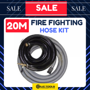 "FIRE FIGHTING HOSE KIT Suit Water Pump 20mx3/4"" High Pressure, 5mx1.5"" suction"