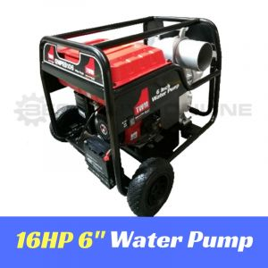 "WATER TRANSFER PUMP HIGH PRESSURE 16HP 6"" 150,000L/hr 4 stroke Petrol Engine Best Buys on sale"