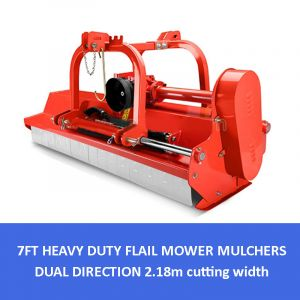 7 ft FLAIL MOWER MULCHER 2.2m Hydraulic Offset Dual Direction Side-shift