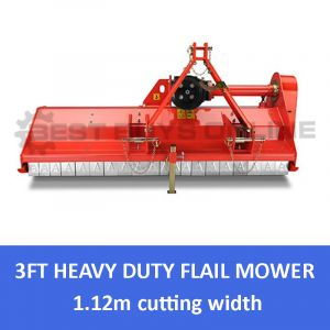 New FLAIL MOWER 4 FT Heavy Duty Mulcher 1120mm Cut Suit Tractor 3 Point Linkage