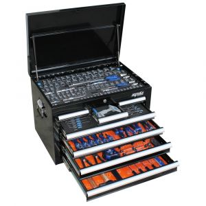 SP TOOLS 219 piece METRIC TOOL KIT 7 DRAWER CUSTOM TOOL BOX