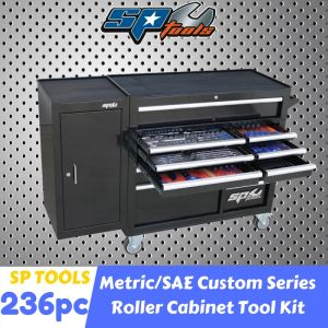 SP TOOLS 11 DRAWERS ROLLER CABINET 236 pcs TOOLBOX Chest Trolley Storage SP50626