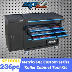 SP TOOLS 11 DRAWERS ROLLER CABINET 236pcs Tool Kit Chest Trolley Storage SP50627