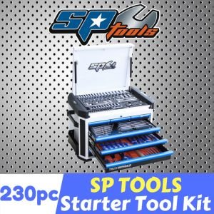 SP TOOLS 7 DRAWER CHEST BOX 230pc SOCKETS SPANNERS TOOL KIT SP52505