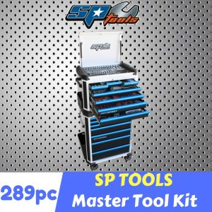 SP TOOLS 293pcs TOOL KIT 14 DRAWER ROLLER CABINET inc. IMPACT WRENCH KIT SP52565