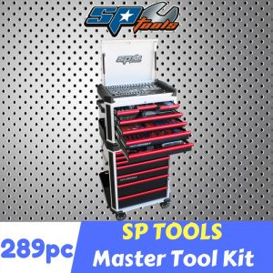 SP TOOLS 293pc TOOL KIT 293pcs TOOL SET inc.14 DRAWERS ROLLER CABINET SP52566