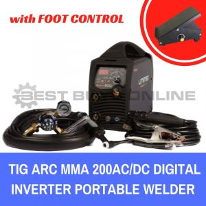 UNIMIG 200AC/DC TIG ARC MMA INVERTER WELDER Portable with FOOT PEDAL
