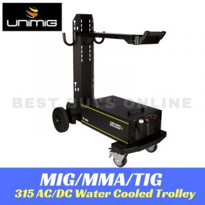 UNIMIG TIG 315 AC/DC Water Cooled Trolley Welder Plasma Cutter Cart UTJRTROLLEY3