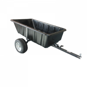 Dump Cart Heavy Duty Poly Tray 454 kg 15 cu.ft 1000 lbs Tow Quad ATV Trailer Ride on Mower
