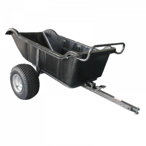 Poly Dump Cart Heavy Duty 544 kg 1200 lbs 15 Cu.ft Tow Behind Trailer Ride on Mower