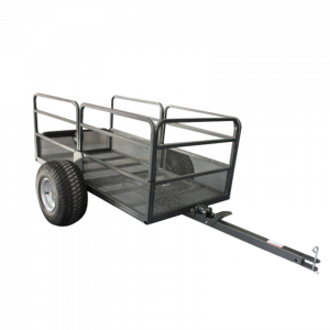 Mesh Dump Cart 567 kg 1250 lbs Capacity Garden Cart, Trailer tow behind ATV Ride on mower