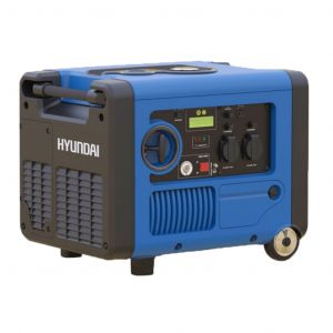 Inverter Generator 4kVA / 3.2kW Max Pure Sinewave Hyundai HY3200SEi Petrol E-Start Engine Quiet Power