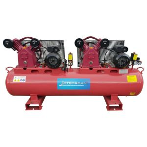 240V Air Compressor Twin Pumps Fusheng Style & Tandem Motors (Single phase) 150 L Tank, 27.8 CFM