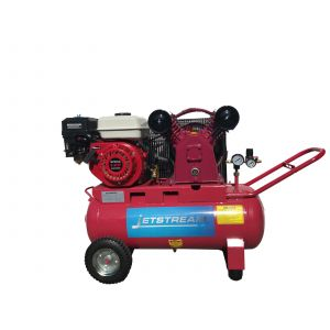 Petrol Air Compressor 6.5 HP, Portable, 50 Litre tank, 14 CFM 2 cylinder pump