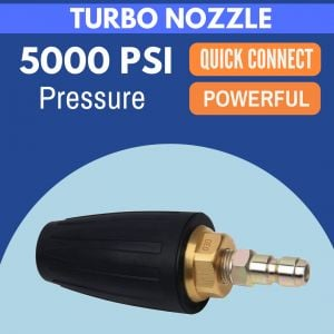 TURBO HEAD ROTATING NOZZLE for 5000 PSI High Pressure Washer Water Cleaner