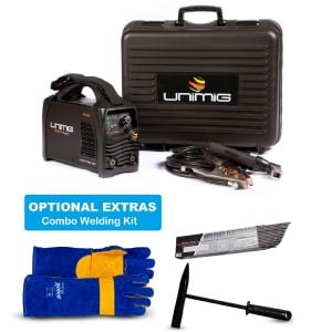 Unimig Razorweld Combo Kit Inverter Welder DC Tig 140 amp Portable KUMJRRW140CA with Welding Gloves, Electrode and Chipping Handle - Best Buys Online