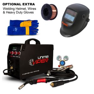 Unimig Viper 150 Inverter Welder KUMJRVM150 Combo Kit with Mig Welder 150 amp Kit, Welding Helmet, Gloves & Wire