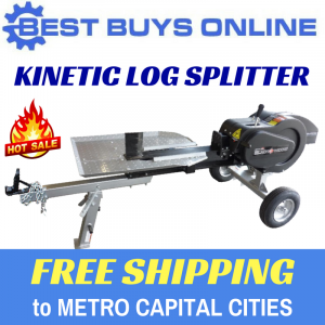 Kinetic Log Splitter, Flywheel Wood Splitter, 30 Ton Log Splitter