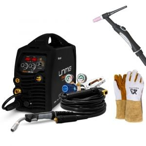 Mig Arc / Stick Tig Welder Unimig Razor 205 Smart Set with Tig Torch, Welding Gloves KUMJRRW205SSMIG