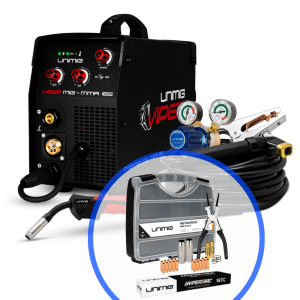 Unimig Viper 182 Mig Stick Welder Inverter KUMJRVM182 with Consumable Starter Kit & GP Electrodes