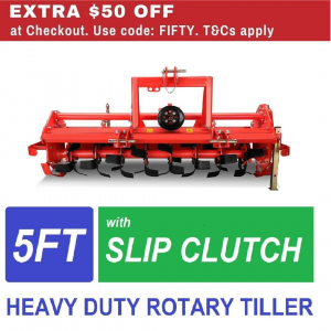 5ft Tractor Rotary Hoe garden tiller Heavy Duty cultivator with Slip Clutch