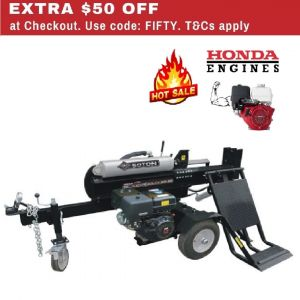50 ton Black Diamond Log Splitter Honda Engine GX390 13HP Petrol with Lifting Table