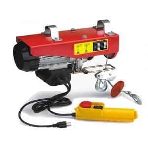 Electric Hoist Winch 500-1000kg Rope 1600W 240V Strong Cable Lift Remote Chain