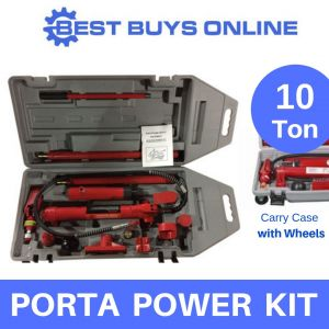 New 10 Ton Porta Power Kit Trolley Case Wheels Heavy Hydraulic Panel Body Repair