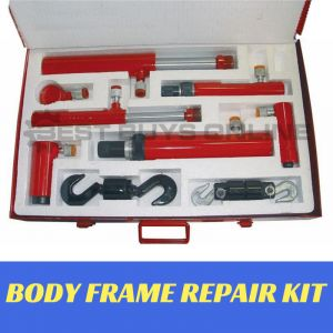Hydraulic Push Pull Ram 10 Ton Kit Vehicle Body Collision Repair Attachment Set