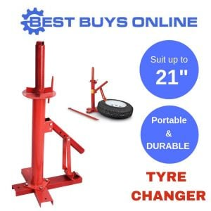 "Tyre Changer Portable Bead Breaker Tire Fitting 15"" - 21"" Large Base"