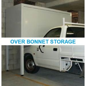 Over Bonnet Storage Box with Locker / Garage Car Park Storage Cabinet