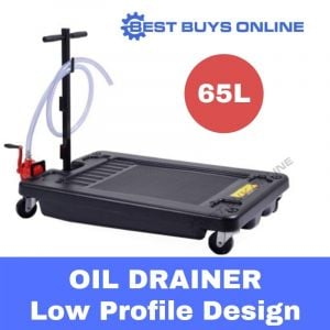 OIL DRAINER Low Profile Oil Drain Pan Portable 65L inc. Hand Pump Hose Truck Car