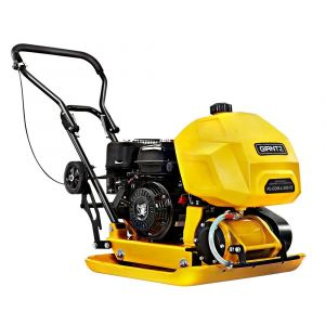 """Giantz 23"""" Plate Compactor 6.5HP Compactors 95KG Vibration Rammer with Wheels"""