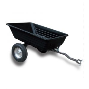 Dump Cart Poly 272 kg Heavy Duty 600 lbs Loading 10 Cu.ft tow behind ATV Trailer