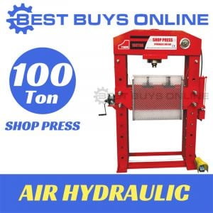 100 TON AIR HYDRAULIC SHOP PRESS Jack Bending with Sliding Head & Foot Pedal