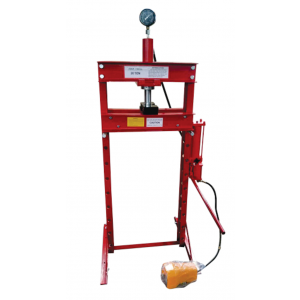 SHOP PRESS AIR HYDRAULIC 30 TON  Sliding head Right-Left with Gauge & Foot Pedal