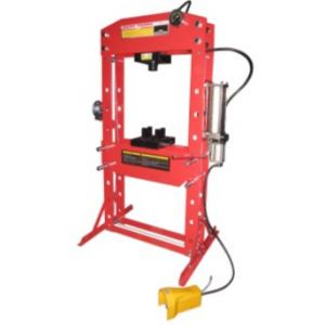 AIR HYDRAULIC SHOP PRESS 75 TON SLIDING HEAD with Foot Operated Pedal