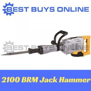 JACK HAMMER Electric Commercial Demolition Jackhammer + CHISELS in Moulded Case