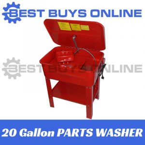 NEW 20 GALLON 90L PARTS WASHER ON STAND-Fully Sealed Magnetic PUMP 240V Electric