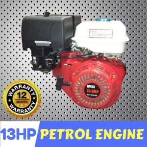 "13 HP Millers Falls petrol engine manual start 1"" 25 mm shaft"