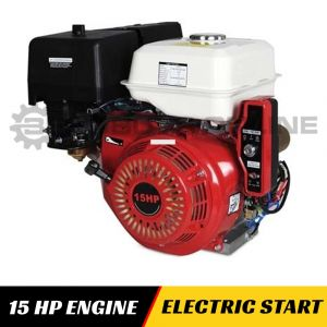 15HP ENGINE ELECTRIC START Horizontal Shaft for Lawn Mower Log Splitter Chipper