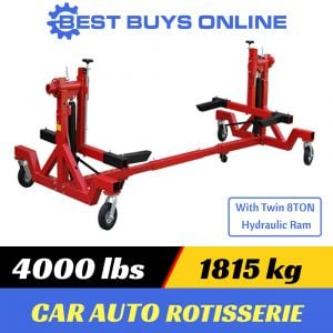 CAR ROTISSERIE 4000 lbs 1815 KG 360 Rotation for easy auto restoration