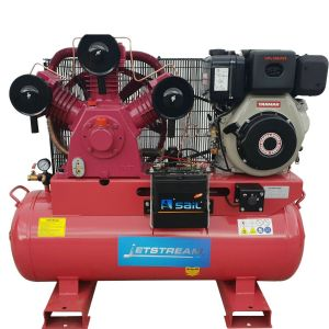 Air Compressor Diesel 10HP Electric Start Yanmar Engine 40 CFM Large 150L Tank